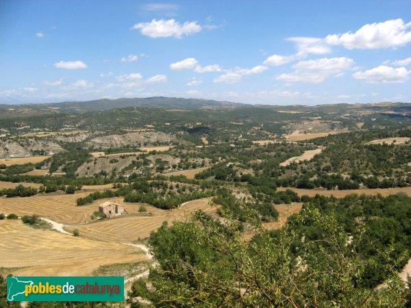 Calonge de Segarra - Panoràmica des del castell de Calonge
