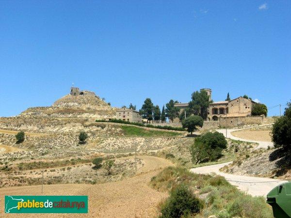 Calonge de Segarra - Església de Santa Fe i castell