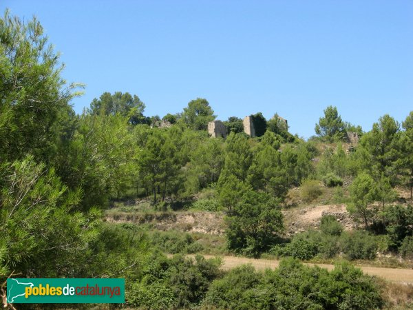 Argençola - Sant Pere de la Goda, restes del nucli