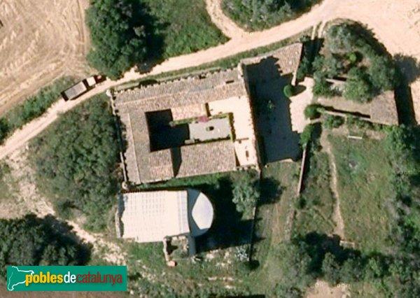 Viladamat - Castell de la Garriga, vista aèria