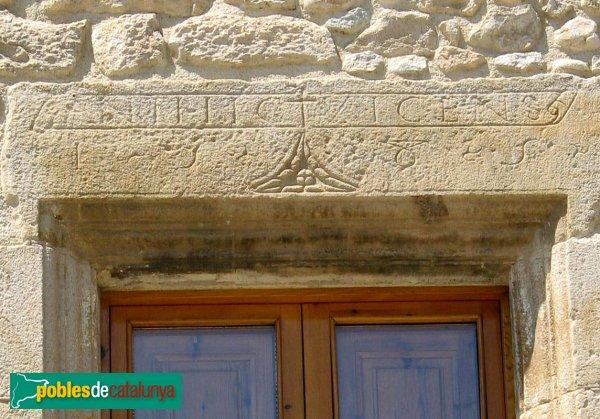 Torroella de Fluvià - Can Pau, inscripció