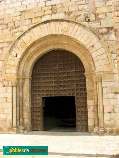 Montblanc - Església de Sant Miquel, porta romànica