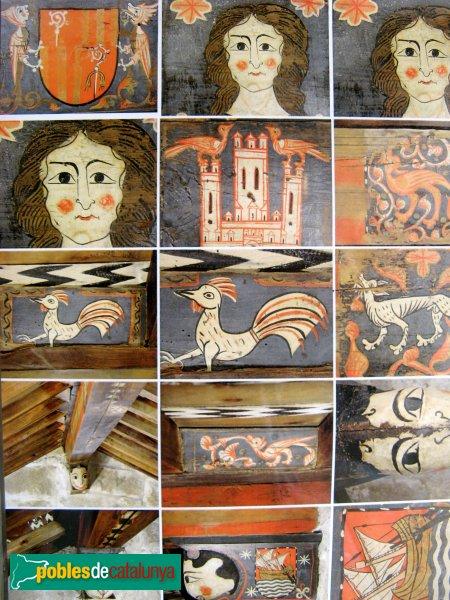 Montblanc - Església de Sant Miquel, detalls de l'enteixinat