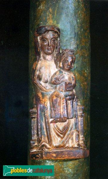 Montblanc - Convent de la M.D. de la Serra, la Creu Verda, detall