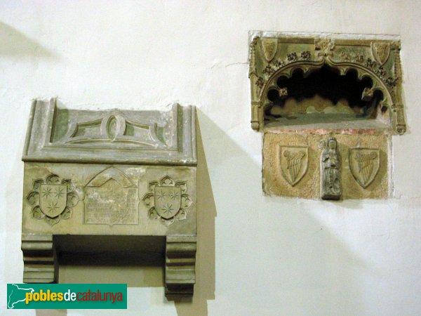 Montblanc - Convent de la M.D. de la Serra, sepulcres