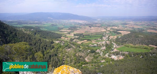 Panoràmica des del castell de Prenafeta