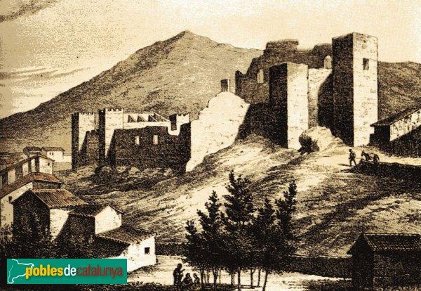L'Espluga de Francolí - Castell, litografia del segle XIX