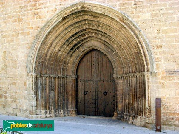 L'Espluga de Francolí - Església vella de Sant Miquel, portada principal