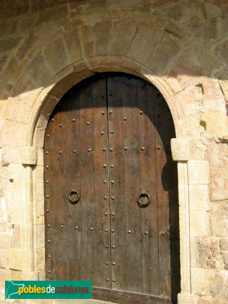 L'Espluga de Francolí - Església vella de Sant Miquel, porta lateral