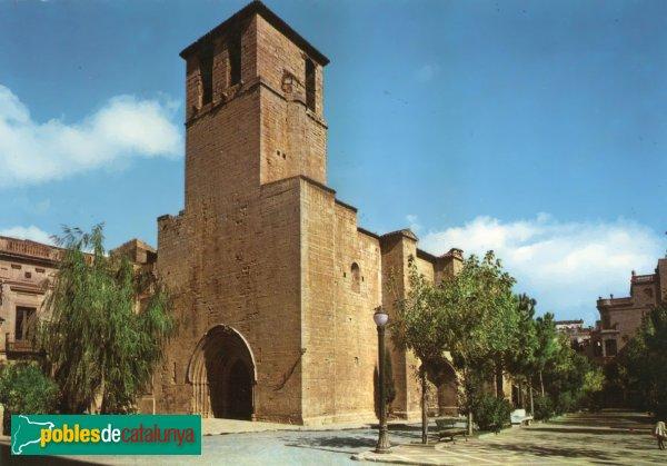 L'Espluga de Francolí - Església vella de Sant Miquel, postal dels anys setanta