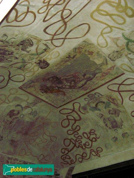 Santa Coloma de Queralt - Castell, pintures de la volta de l'escala