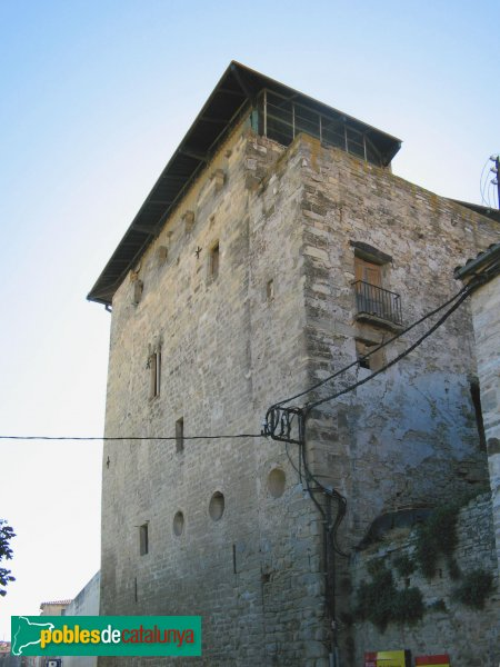 Santa Coloma de Queralt - Castell, façana nord