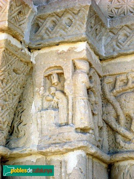 Santa Coloma de Queralt - Santa Maria de Bell-lloc, portada