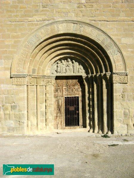 Santa Coloma de Queralt - Santa Maria de Bell-lloc, portalada