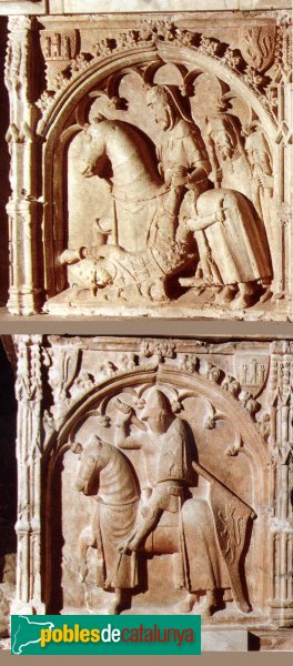 Santa Coloma de Queralt - Sepulcre de Pere V de Queralt i Alamanda, detalls