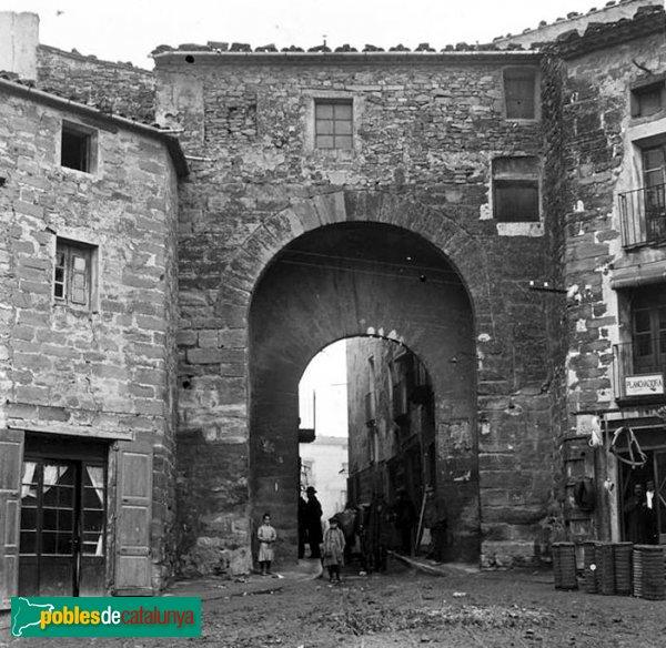 Santa Coloma de Queralt - Portal del Sanou, 1912