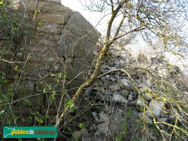 Santa Coloma de Queralt - Molí de Requesens, arrencada de la porta