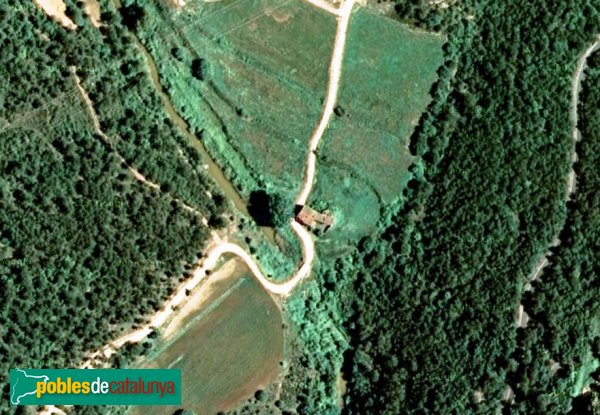 Pontils - Molí de Seguer, vista aèria