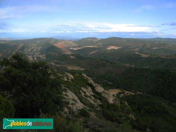 Pontils - Panoràmica des del castell de Montclar