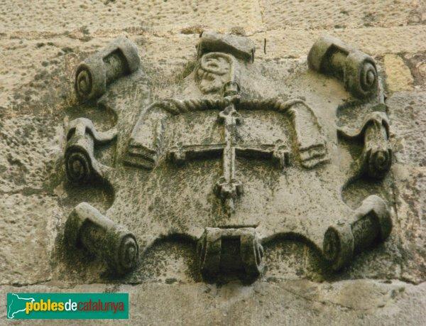 Conesa - Casa Delmera, escut de l'abat Contijoc