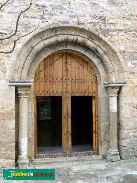 Vallfogona de Riucorb - Església de Santa Maria, porta romànica sobreposada