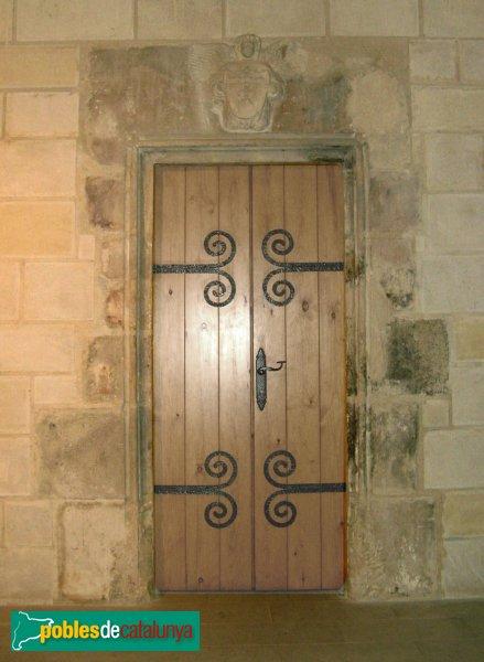 Vallfogona de Riucorb - Església de Santa Maria, porta interior