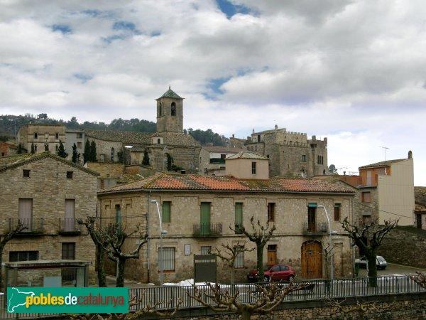 Vallfogona de Riucorb - Panoràmica amb l'església i el castell