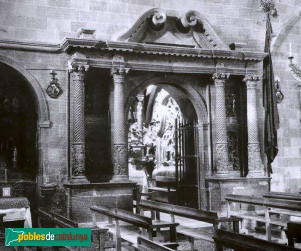 Vallfogona de Riucorb - Església de Santa Maria, porta desapareguda de la capella de Santa Bàrbara