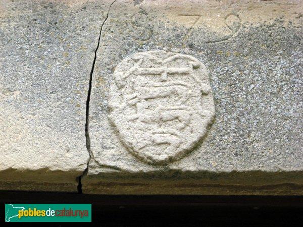 Vallfogona de Riucorb - Castell, escut del comanador Xammar