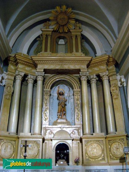 Vallclara - Església de Sant Joan, altar major