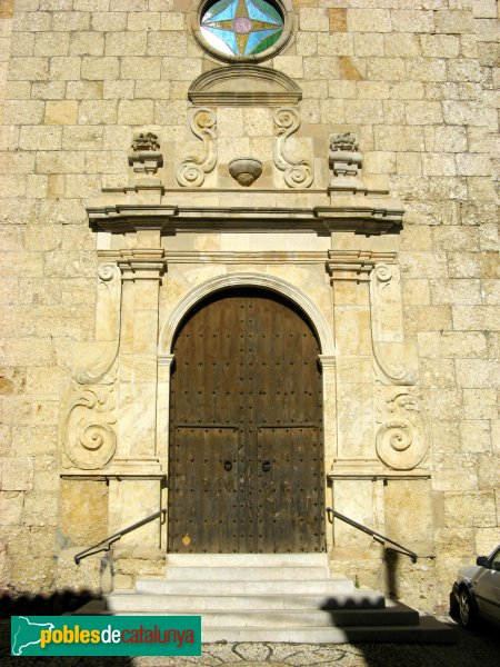 Vilanova de Prades - Església de Sant Salvador, portada