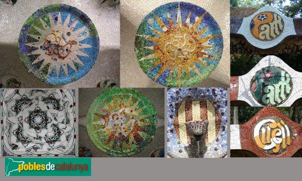 Barcelona - Parc Güell, mosaics
