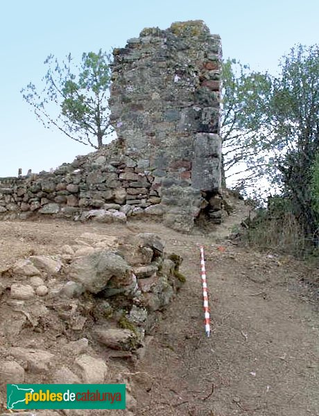Viladecavalls - Restes del castell de Toudell