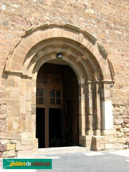 Terrassa - Església de Sant Pere, portada
