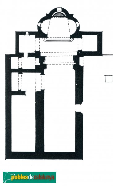 Terrassa - Església de Sant Pere, planta