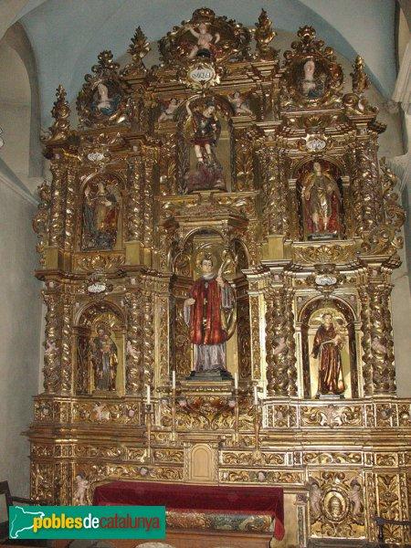 Terrassa - Església de Sant Pere, retaule barroc