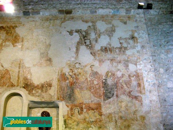 Terrassa - Sant Pere, pintures murals gòtiques