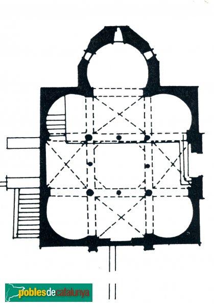 Terrassa - Església de Sant Miquel, planta
