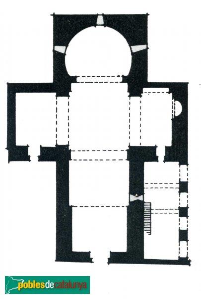 Terrassa - Església de Santa Maria, planta