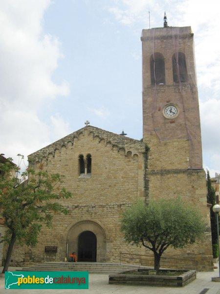 Rubí - Església de Sant Pere, façana romànica