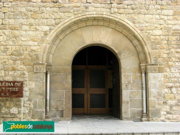 Rubí - Església de Sant Pere, portalada romànica