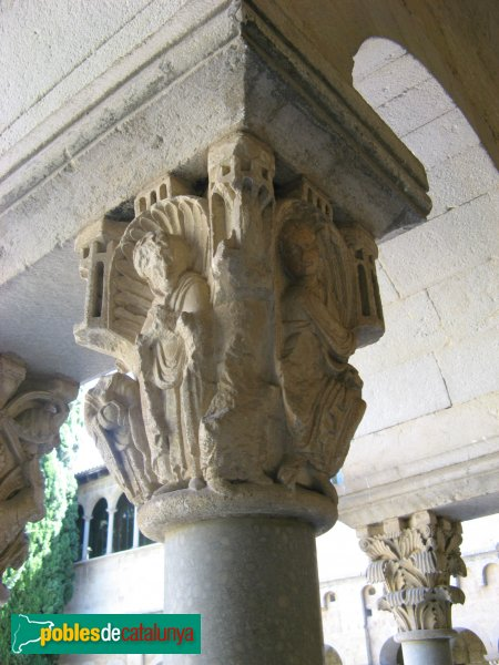 Sant Cugat del Vallès - Monestir, capitell del claustre