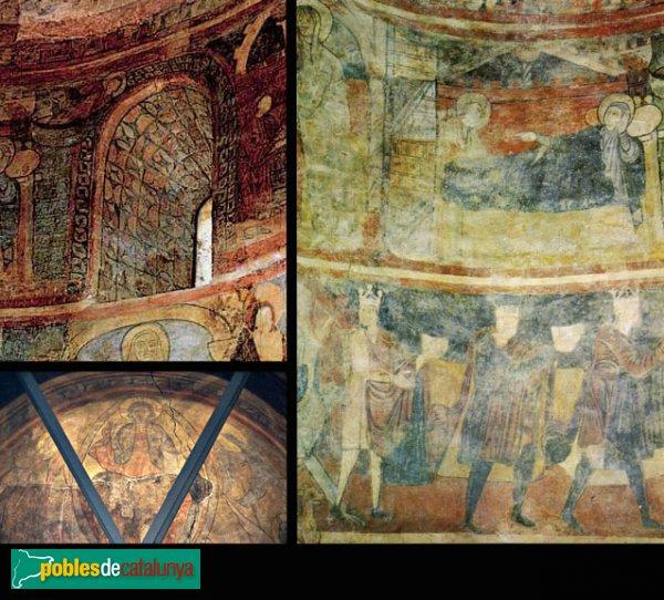 Barberà del Vallès - Santa Maria de Barberà, pintures romàniques