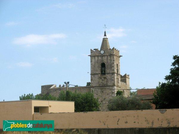 Fortià - Església de Sant Julià, campanar de lluny