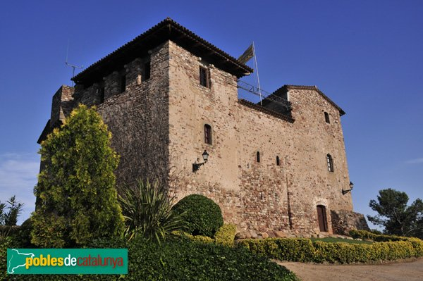 Palau-solità i Plegamans - Castell de Plegamans, Façana de ponent