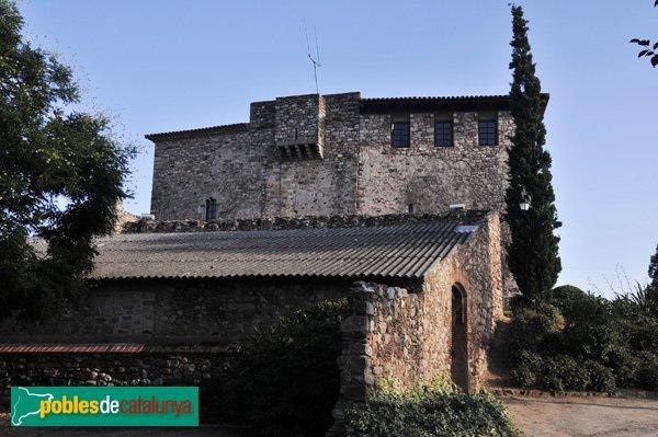 Castell de Plegamans, vist des del N