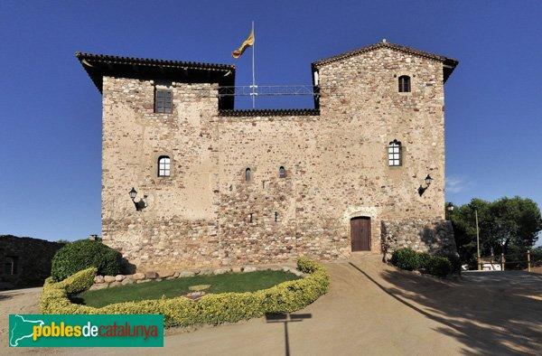 Castell de Plegamans, façana de ponent