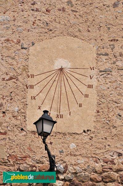 Castell de Plegamans, rellotge de sol