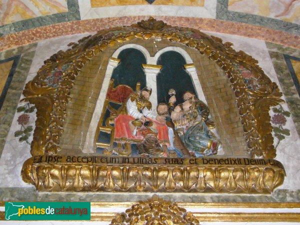 Passanant - Església de Sant Jaume, detall del cambril
