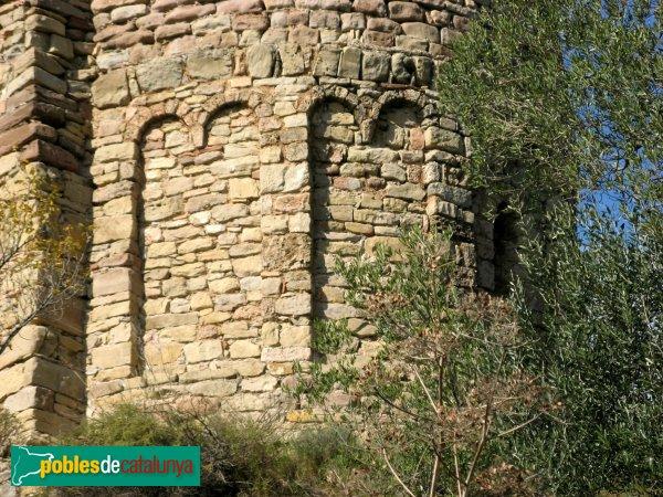 Gallifa - Església del castell, claustre